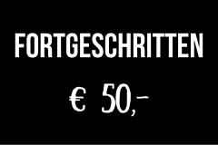 Gutschein für Fortgeschrittene - 50 Euro